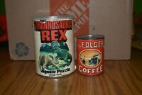 Vintage Folgers Coffee Give Away Puzzle and 1974 Dinosaur Canister Puzzle Lot