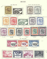 Brunei Stamps Collection 29 MLH/NH VF 1937-51 SCV $314.00