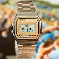 Casio A-158WEA-9 Classic Digital Watch Stainless Steel Alarm Stopwatch New