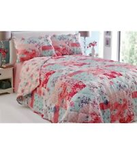 Brand New Vintage Chic Exclusive Bedspread Comforter Patchwork Peach Floral