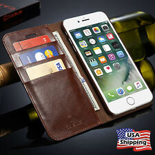 Genuine Leather Wallet Card Holder Flip Case Cover for iPhone XS MAX XR 8/7 Plus