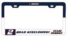 NASCAR #2 BRAD KESELOWSKI LICENSE PLATE FRAME-NASCAR Tag Frame