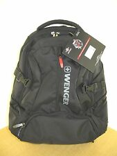 New Wenger 'Transit' Deluxe Laptop Backpack Black/Gray With Red - New with Tags
