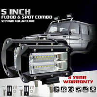 5INCH 72W LED WORK LIGHT BAR Flood FOR OFFROAD 4WD SUV ATV JEEP CAR LAMP 10~48V