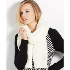 FOREVER 21 OPEN-KNIT WHITE SCARF WRAP