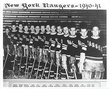 NEW YORK RANGERS 1940-41 TEAM NY 8X10 PHOTO HOCKEY NHL PICTURE
