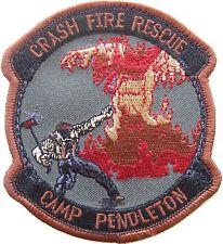 Patch, Marine Corps: CamPen Crash Fire Rescue, Combat Subdued (USMC Marines)