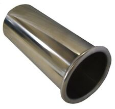 """2.5"""" Exhaust Tail Pipe Stainless Steel 304 2 1/2"""" 63.5mm rolled out Sport look"""