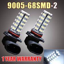 2X 9005 HB3 9145 68-SMD LED Light Bulbs White Fog Driving Daytime Running Light