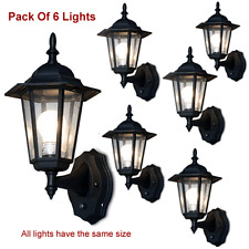 Elegant 6-Panel Outdoor Lanterns With Smart Photocell Sensors - Pack Of 6