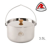Robens OTTAWA POT 3.5L Stainless Steel Campfire Tripod or Stove Cooking Pan