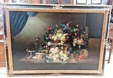 Huge Oil Painting Still Life style Dutch Old Masters signed K Jons 7 ft x 5 ft