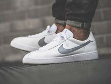 f097cc980d4f13 NIKE BRUIN LEATHER Trainers Casual Retro Marty Mcfly UK 12 (EU 47.5) White  Grey