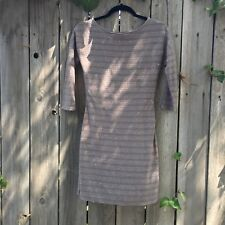 Express Brown Grey Sequin Striped Bodycon Stretch Dress Size XS