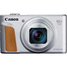Canon PowerShot SX740 HS Digital Compact Camera: Silver