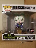 DC Super-Villains Deluxe the Joker Hush Pop! Vinyl Figure Exclusive Funko 2018