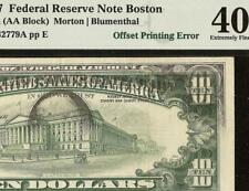 1977 $10 DOLLAR BILL DARK OFFSET PRINTING PRINT ERROR NOTE PAPER MONEY PMG 40