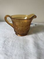Vintage Indiana Creamer Cup Tiara Sandwich Pattern Amber Glass Replacement Piece