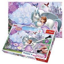 Trefl Puzzle 54 Pezzi + Marker Disney Sofia The First Ragazze Unicorno Gioco