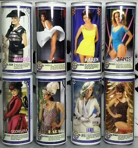 Tennent's Lager Beer Cans Complete 1985 Centennial Girls 440ml, Empty P/T, Steel