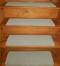 "13 = STEP 9"" x 30'' + LANDING 30"" X 30"" Stair Treads Staircase WOVEN WOOL"