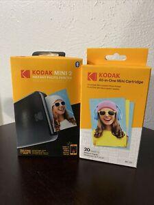 Kodak Mini 2 Portable Mobile Instant Photo Printer + Extra Cartridge Bundle