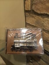 NEW  Pottery Barn Christmas Train Salt And Pepper Set chrome Holiday Tabletop.