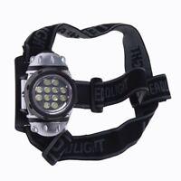 Stirnlampe 12 LED Kopflampe Headlamp Zoomable Weiss wasserdicht Angeln D9W3) OE