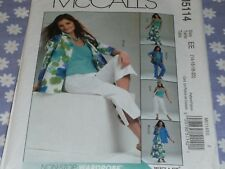 McCall'S 5114 Misses Shirt-Jacket-Top-Skirt & Pants Pattern Uncut-Sizes-14-20