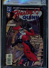 HARLEY QUINN #1 CGC 9.8 WHITE PAGES DC COMICS 1ST PRINTING WHITE PAGES 2001 BLUE