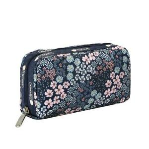 LeSportsac Classic Rectangular Cosmetic Make Up Bag in Faraway Floral NWT