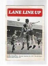 League Fixtures (1970-1979)