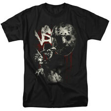 Freddy Vs Jason Scratches Horror Movie Officially Licensed T-Shirt