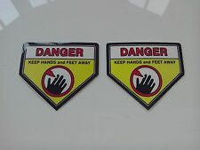 Lawn Mower - Blade Warning Safety stickers - 2 x Sticker for twin Blades