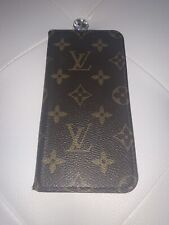 New listing Authentic Louis Vuitton Cell Phone Case iPhone 6 Monogram Leather Brown 07Bk034