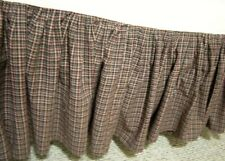 King Patch Magic Country Cabin Plaid Pleated Bed Skirt Dust Ruffle