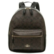 New Authentic Coach F32200 Medium Charlie Backpack Shoulder Bag Brown Black