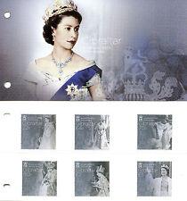 Gibraltar 2017 MNH Queen Elizabeth II Accession Sapphire Jub 6v Pres Pack Stamps