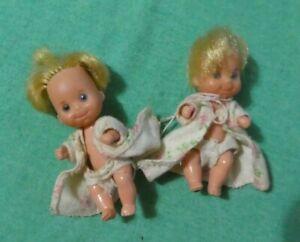 Vintage Mattel Sunshine Family Baby Dolls with Blonde Hair