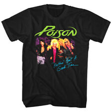 Poison Nothin But a Good Time Men's T Shirt Rock Band Album Cover Art Tour Merch