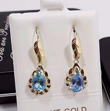 14K Real Yellow Gold, Dangle Earrings, Chandelier Earrings, Personalized Jewelry