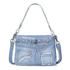 personality jeans rivet Leisure purse Handmade shoulder bag  Handbag