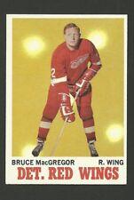 Bruce MacGregor Detroit Red Wings 1970-71 Topps Hockey Card #27 NM/M