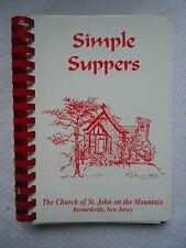 SIMPLE SUPPERS THE CHURCH OF ST JOHN ON THE MOUNTAIN BERNARDSVILLE NEW JERSEY NJ