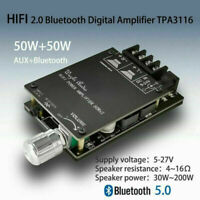 HIFI TPA3116 Bluetooth 5.0 High Power Digital Amplificateur Stereo 50WX2