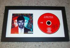 ROBIN THICKE SIGNED BLURRED LINES FRAMED CD DISPLAY wEXACT VIDEO PROOF AUTOGRAPH
