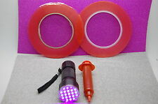 Handy Frontscheibe Reparatur-Set, Klebeband, Loca Kleber, 21 LED Taschenlampe