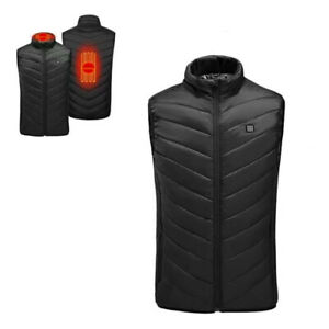 Heated Vest for Men Women Winter USB Electric Heating Gilet with Stand Collar