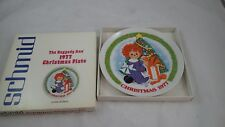 Schmid 1977 Raggedy Ann & Andy Christmas Plate Original Box Excellent