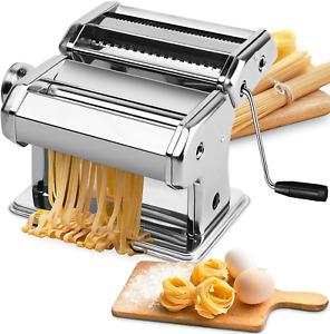 maquina laminadora de masa manual para pasta rodillo acero inox para ravioles
